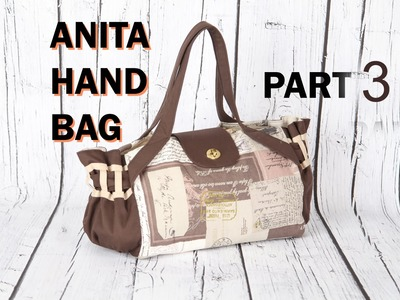 Anita 3, with cross handles, lined with magnetic button. DIY Bag Vol 21C
