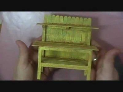Building a Dollhouse Potting Bench - Part 2