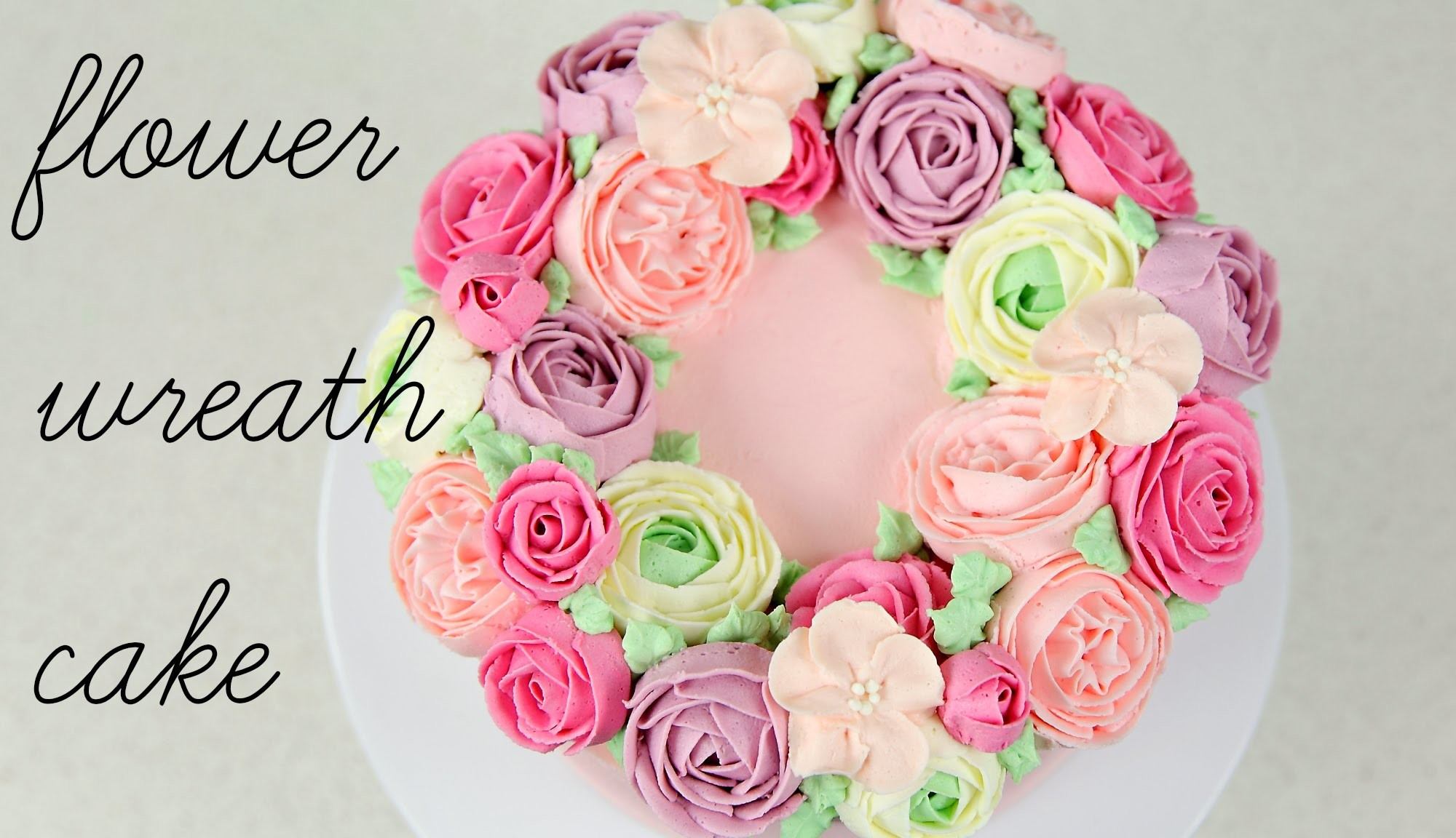 Buttercream Flower Wreath Cake Tutorial - CAKE STYLE