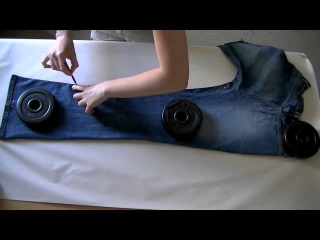 Clone your jeans ( how to take pattern off jeans without taking them apart )