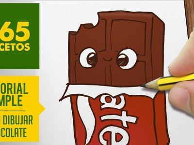 COMO DIBUJAR UN CHOCOLATE KAWAII PASO A PASO - Dibujos kawaii faciles - How to draw a chocolat