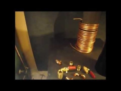 Copper Coil To Free Hot Water From The Wood Stove