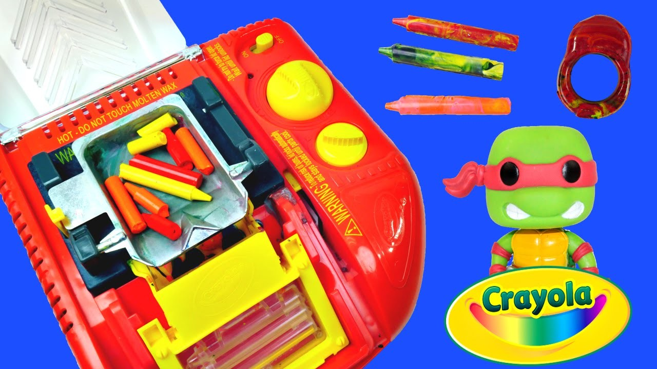 Crayola Melt N Mold Factory DIY Teenage Mutant Ninja Turtles Disney Planes Crayon Maker Molds