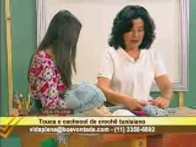 Crochê tunisiano com Mary - cachecol touca 03