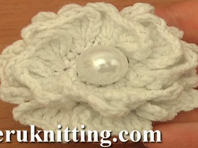 Crochet Double Layered Heart Shaped Petal Flower Tutorial 93