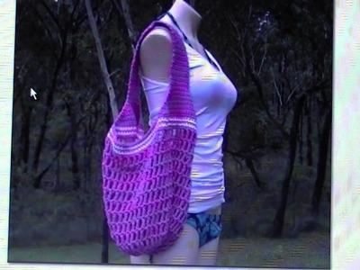 Crochet Mesh Bag - FREE written pattern