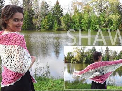 Crochet Shawl - Beautiful Vintage Lace Style!