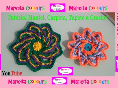 "Crochet Tutorial Tapete ""Carmen"" (Parte 2) por Maricita Colours"