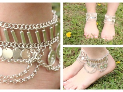 DIY Boho Anklets (using an old necklace!)