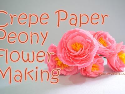 DIY |  Crepe Paper Peony Flower |  Tutorial