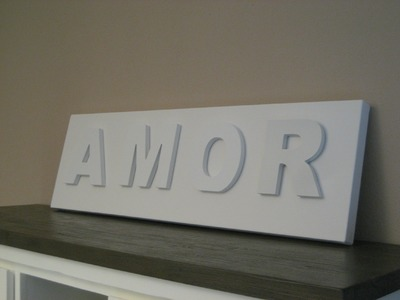 DIY Decorar con letras. Decorating with letters