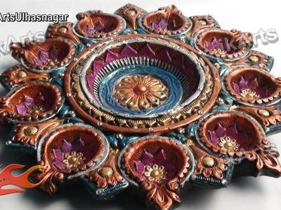 DIY Diwali Diya  Tray Decoration  How to    K Arts 419