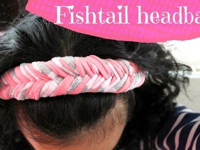 DIY fishtail headband