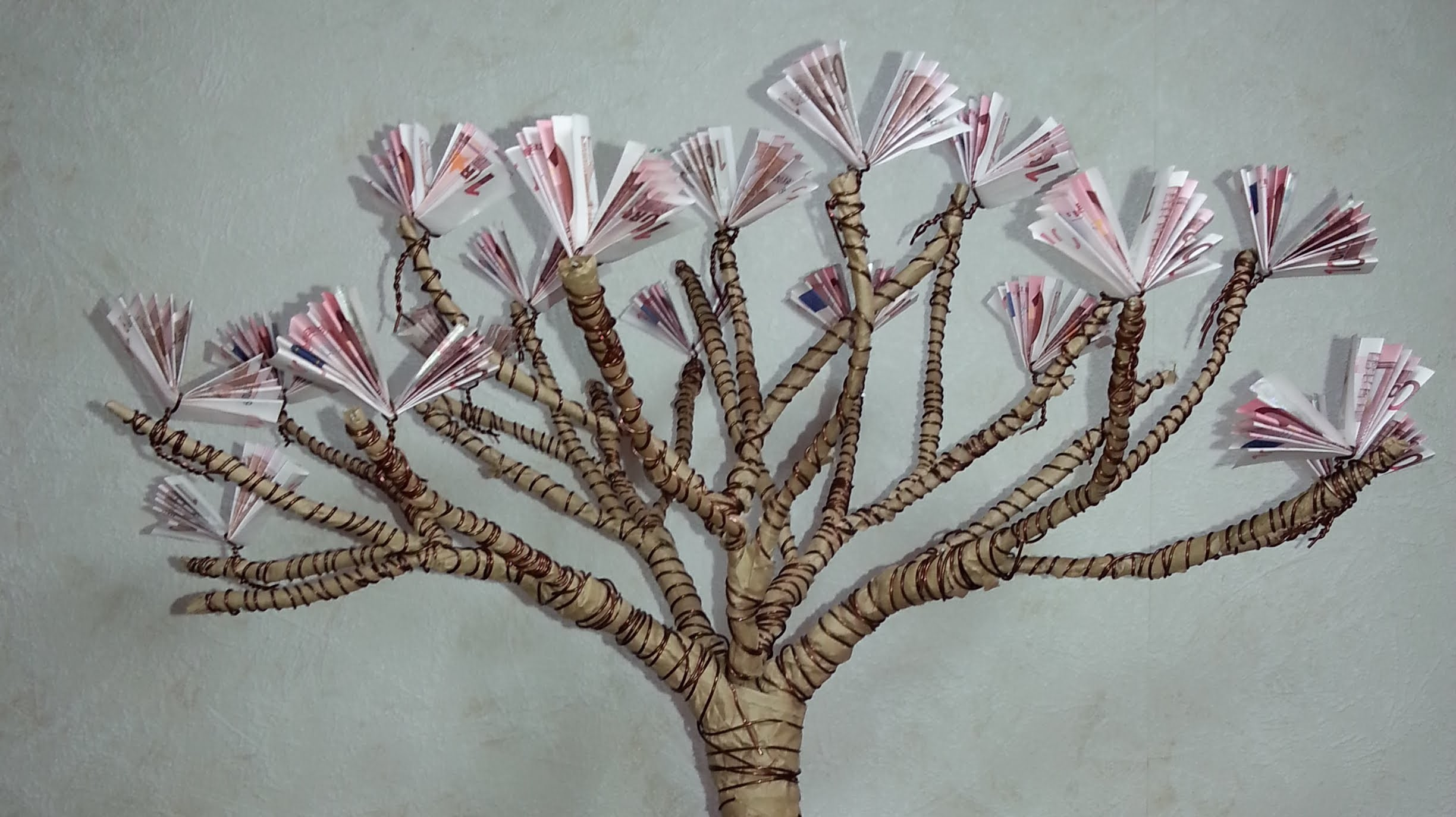 Diy Gift Of Money Blossoming Cherry Tree Geldgeschenke Basteln