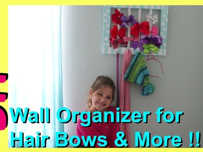 DIY Hair Bow Accessory Organizer | Cute Easy Wall Decor | Hair Bows, Headbands, Hats, Belts, Scarves