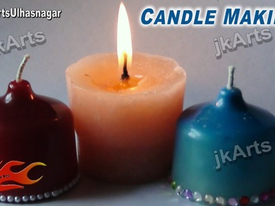 DIY Homemade Wax Candles | How to Make | JK Arts 474