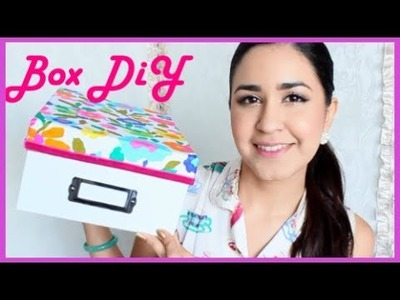 DIY: HOw to Decorate Organizing Box