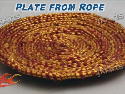DIY  How to make Plate from Rope JK Arts 278