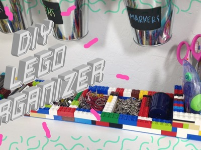 ✄ DIY LEGO ORGANIZER. BACK TO SCHOOL. DESK DECOR ✄