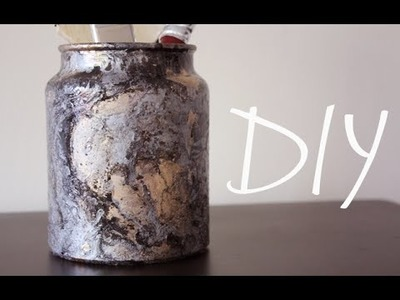 DIY: Marbled Jar
