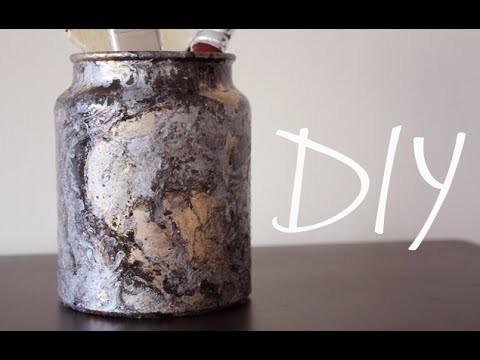 DIY: Marbled Jar