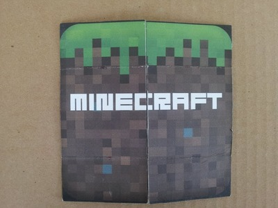 DIY Minecraft Flip Card as Birthday and Holiday Cards, Papercraft, Origami