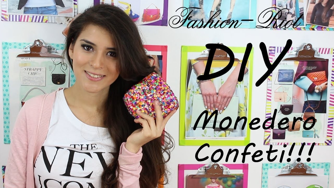 DIY Monedero Confeti  | Fashion Riot