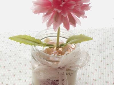 DIY : Shabby Chic Mason Jar Flower Vase Series # 3