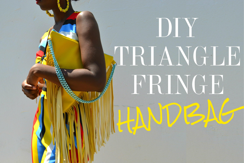 DIY Triangle Fringe Handbag
