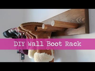 DIY Wall Boot Rack Plans