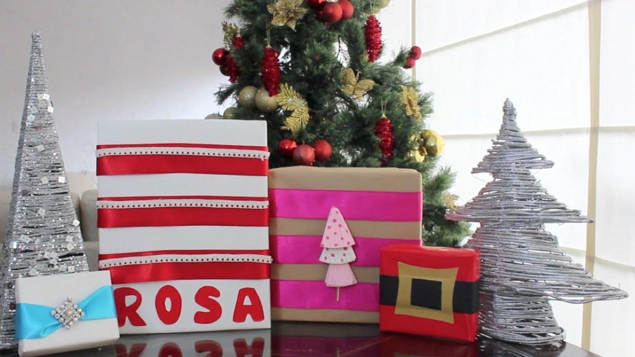 Envolturas de regalos - DIY NAVIDAD