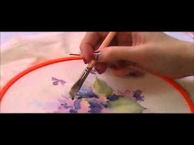 Final tutorial for painting violets on fabric