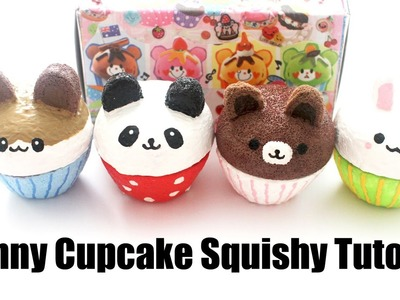 Homemade Bunny Cupcake Squishy Tutorial