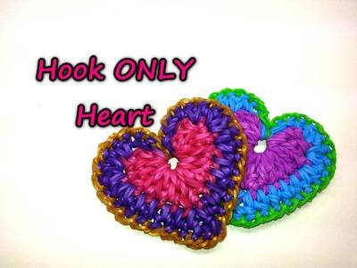 Hook ONLY Heart Tutorial by feelinspiffy (Rainbow Loom)