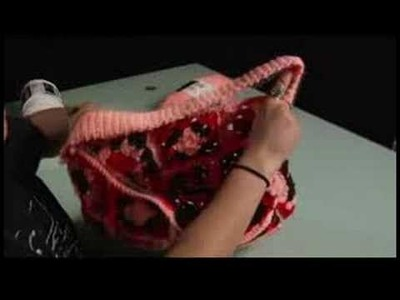 How to Crochet a Bag : Crochet: Attaching Strap to Bag