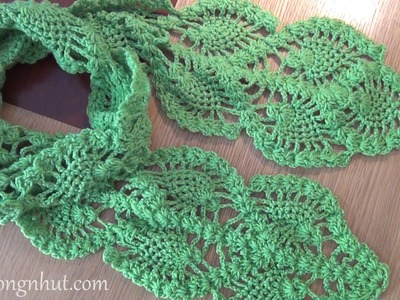 How to Crochet a Scarf - Pattern 3 (engsub)