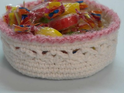 How To Make A Crocheted Basket For Sweets - DIY Crafts Tutorial - Guidecentral