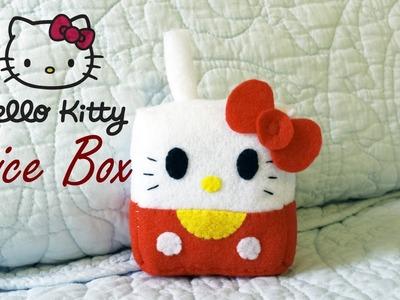 How to Make a Hello Kitty Juice Box plushie tutorial