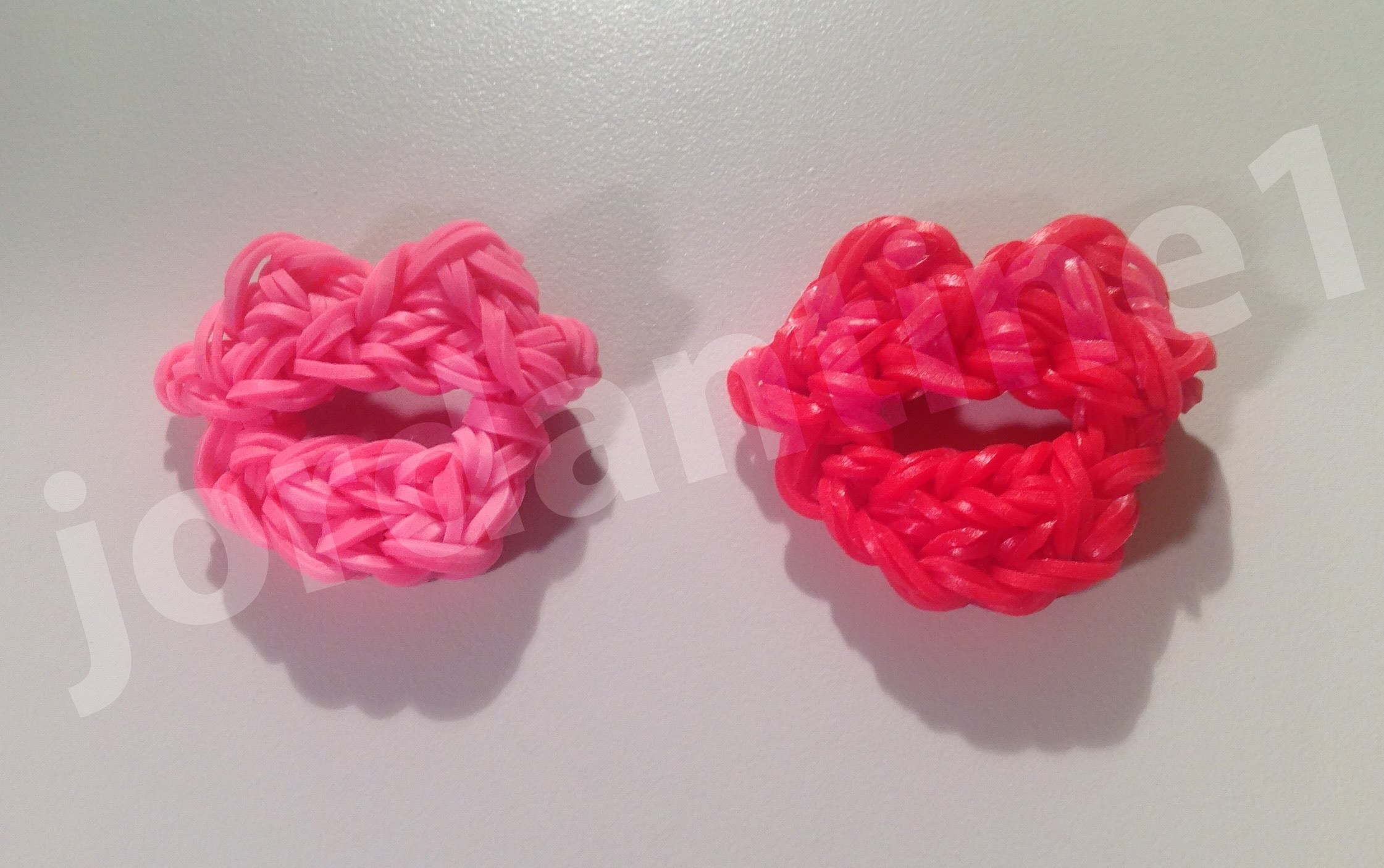 How To Make A Small Pair Of Lips - Valentine's Day Kiss - Rainbow Loom, Crazy Loom, Bandaloom