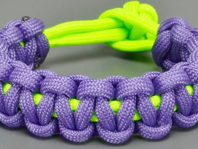 How to make Basic Cobra paracord bracelet without Buckles