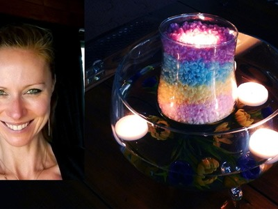How to make easy rainbow candle