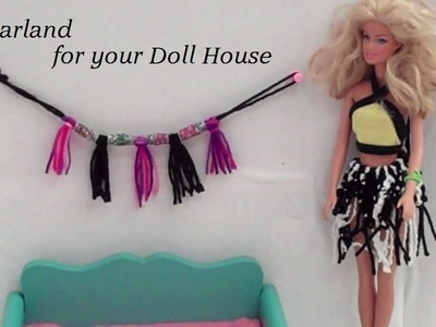 How to Make,  Garland for your Doll House - Doll Crafts