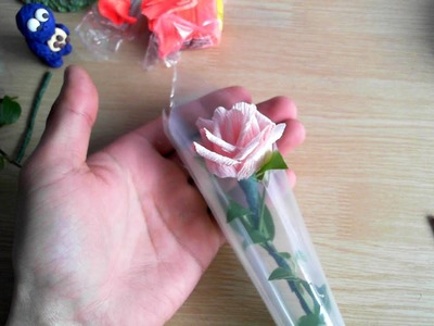 How to make Valentine's Day Gift with crepe paper