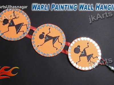 HOW TO: make Warli Painting Wall Hanging from Waste DVD - JK Arts 501