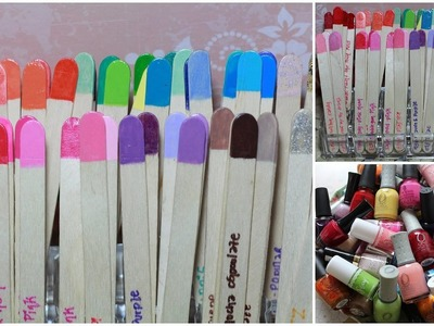 How to Organize Nail Polishes Using POPSICLE Sticks