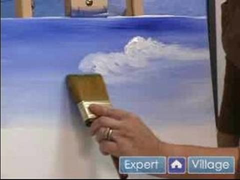 How to Paint with Acrylic Paint : How to Paint a Sky Using Acrylics