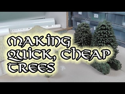 Making cheap trees for wargaming