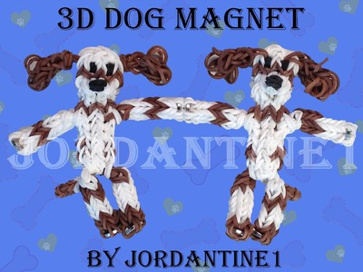 New 3D Spaniel Dog. Puppy Magnet Figure. Charm - Monster Tail or Rainbow Loom