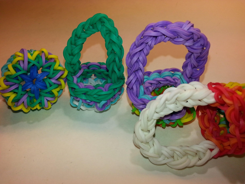 ONE LOOM Kaleidoscope Basket Tutorial by feelinspiffy (Rainbow Loom)