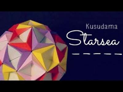 Origami Ball. Kusudama Starsea